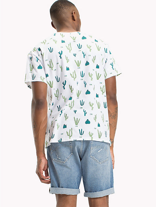 TOMMY JEANS Summer Print T-Shirt - CACTUS AOP / CLASSIC WHITE -  T-Shirts & Polos - detail image 1