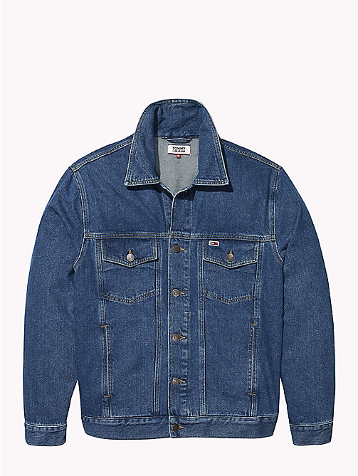 TOMMY JEANS Oversized Fit Denim Jacket - TOMMY CLASSICS MID BLUE RIGID - TOMMY JEANS Coats & Jackets - detail image 1