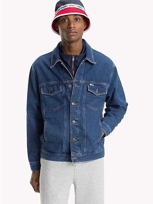 TOMMY JEANS Oversized Fit Denim Jacket - TOMMY CLASSICS MID BLUE RIGID - TOMMY JEANS Coats & Jackets - main image