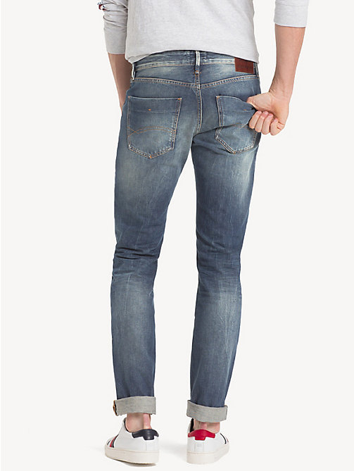 TOMMY JEANS Jeans straight fit sbiaditi - SOMERS LIGHT BLUE COM - TOMMY JEANS Jeans - dettaglio immagine 1