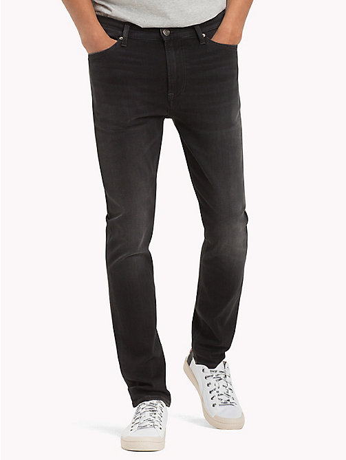 TOMMY JEANS Skinny Fit Jeans - KELVIN BLACK STRETCH - TOMMY JEANS Clothing - main image