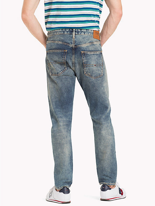 TOMMY JEANS TJ 1988 Distressed Tapered Jeans - DAVIE DIRT BLUE RIGID - TOMMY JEANS Tapered Jeans - detail image 1