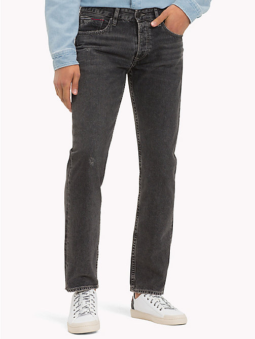 TOMMY JEANS Straight Fit Jeans - PADDOCK BLACK RIGID -  Sustainable Evolution - main image