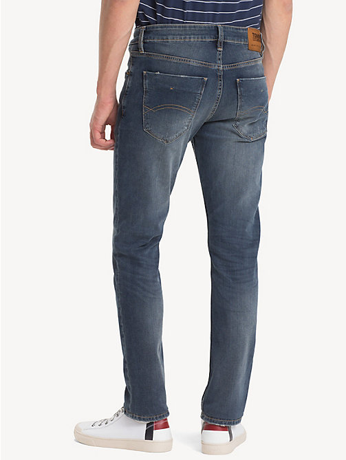 TOMMY JEANS Slim Fit Stretch Denim Jeans - LEROY MID BLUE COM - TOMMY JEANS Slim Fit Jeans - detail image 1