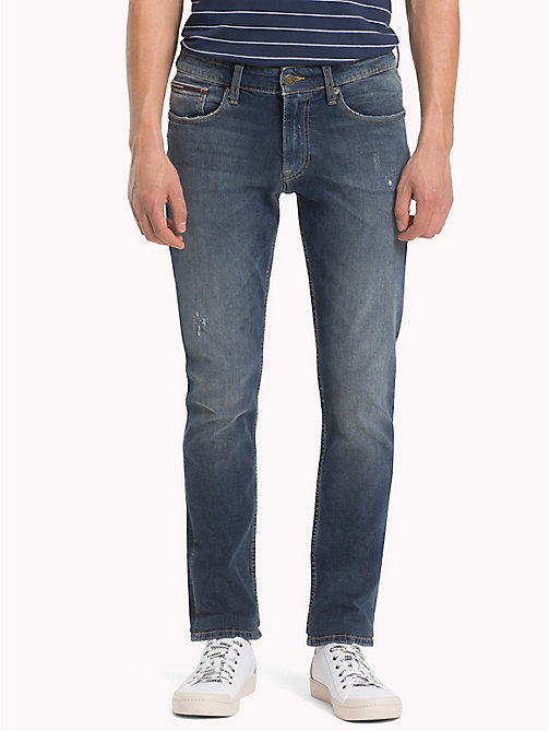 TOMMY JEANS Slim Fit Stretch Denim Jeans - LEROY MID BLUE COM - TOMMY JEANS Slim Fit Jeans - main image
