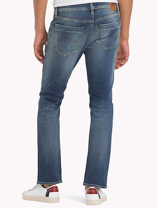 TOMMY JEANS Organic Cotton Slim Fit Selvedge Jeans - SELV MID BLUE STRETCH - TOMMY JEANS Slim Fit Jeans - detail image 1