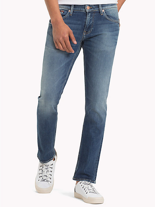 TOMMY JEANS Organic Cotton Slim Fit Selvedge Jeans - SELV MID BLUE STRETCH - TOMMY JEANS Slim Fit Jeans - main image