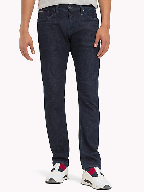 TOMMY JEANS Organic Cotton Slim Fit Selvedge Jeans - SELV RINSE BLUE STRETCH - TOMMY JEANS Slim Fit Jeans - main image