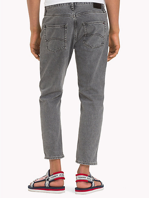 TOMMY JEANS Tapered Fit Cropped Denim Jeans - LIBERTY GREY RIGID - TOMMY JEANS Tapered Jeans - detail image 1