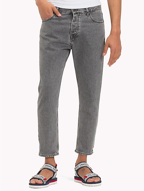 TOMMY JEANS Tapered Cropped Fit Jeans - LIBERTY GREY RIGID - TOMMY JEANS Tapered Jeans - main image