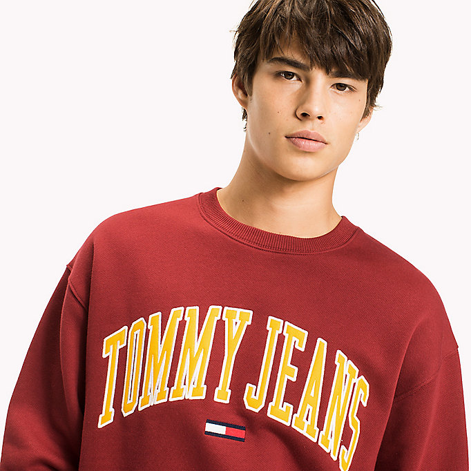 TOMMY JEANS Logo-Sweatshirt aus Fleece - ICE GREY HTR - TOMMY JEANS Herren - main image 2