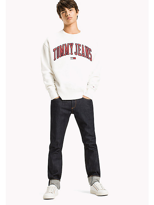 TOMMY JEANS Sweat-shirt à logo en polaire - BRIGHT WHITE - TOMMY JEANS Sweats - image principale