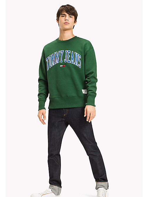 TOMMY JEANS Fleece Logo Sweatshirt - EDEN - TOMMY JEANS Sweatshirts & Hoodies - main image