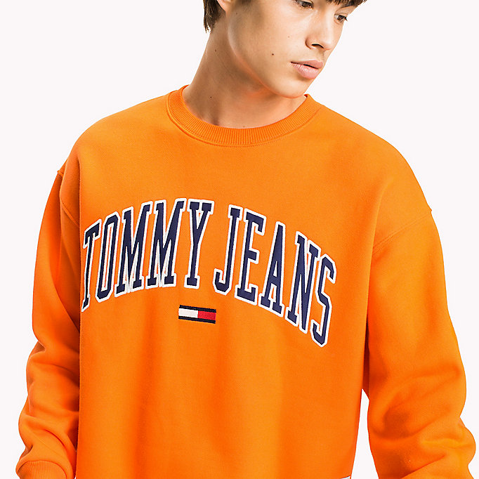 TOMMY JEANS Fleece Logo Sweatshirt - ICE GREY HTR - TOMMY JEANS Clothing - detail image 2