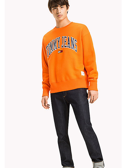 TOMMY JEANS Fleece Logo Sweatshirt - ORANGEADE -  Sweatshirts & Hoodies - main image
