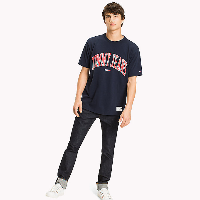 TOMMY JEANS Jersey Logo T-shirt - BRIGHT WHITE - TOMMY JEANS Clothing - main image
