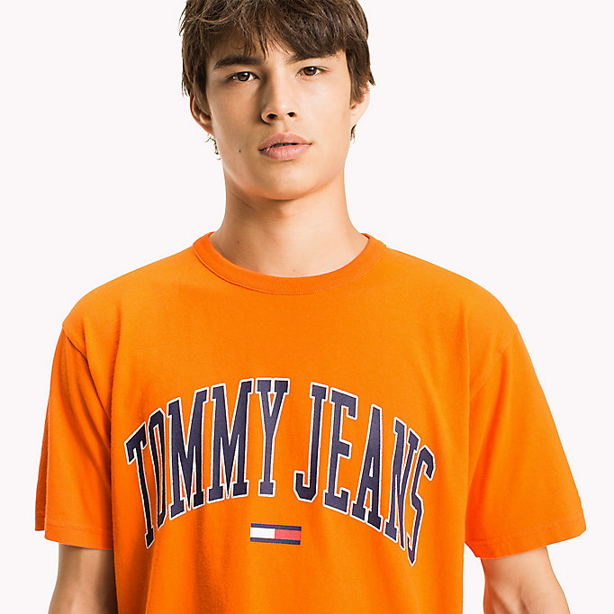 TOMMY JEANS Jersey Logo T-shirt - ICE GREY HTR - TOMMY JEANS Clothing - detail image 2