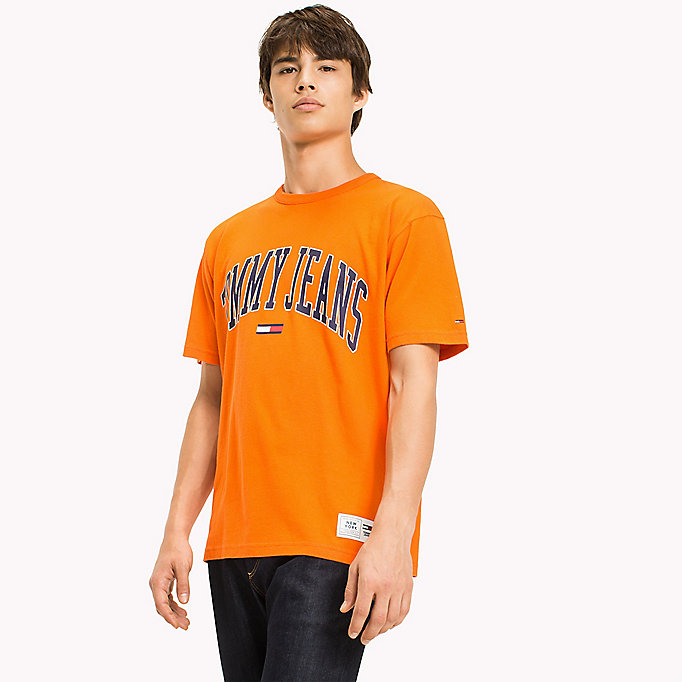 TOMMY JEANS Jersey Logo T-shirt - ICE GREY HTR - TOMMY JEANS Clothing - main image