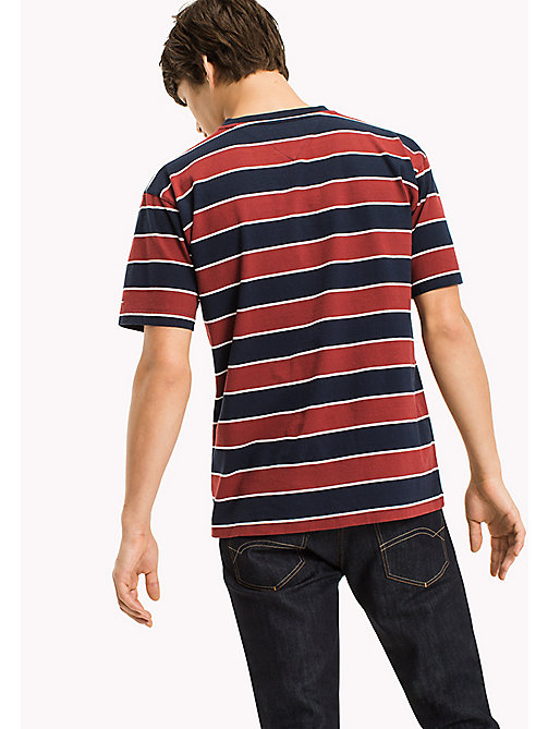 TOMMY JEANS Jersey T-shirt met logo - MERLOT / STRIPE - TOMMY JEANS T-Shirts - detail image 1
