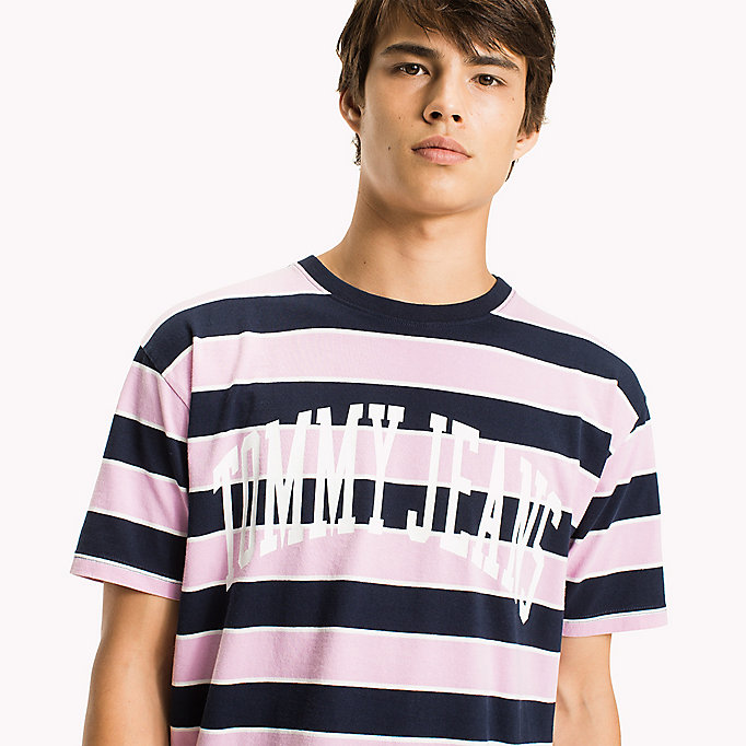 TOMMY JEANS Jersey Logo T-shirt - MERLOT / STRIPE - TOMMY JEANS Clothing - detail image 2