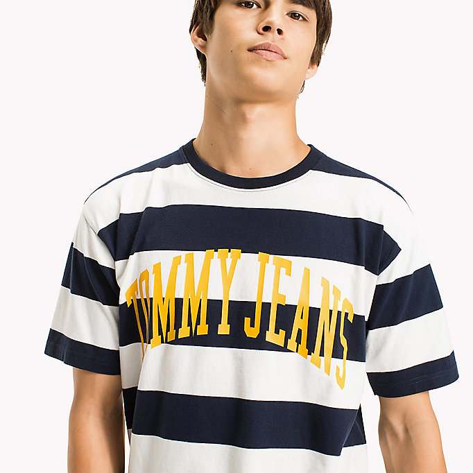 TOMMY JEANS Jersey Logo T-shirt - ORANGEADE / BOLD STRIPE - TOMMY JEANS Clothing - detail image 2