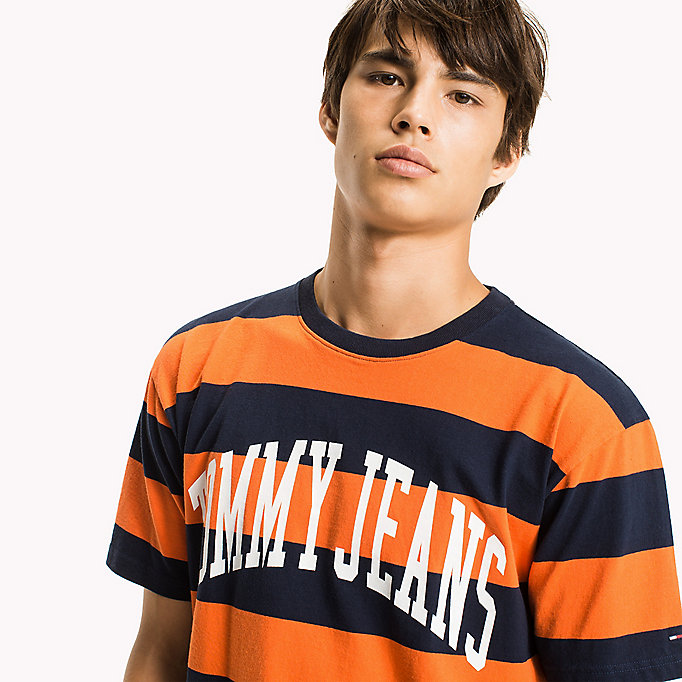 TOMMY JEANS Jersey Logo T-shirt - EDEN / BOLD STRIPE - TOMMY JEANS Clothing - detail image 2