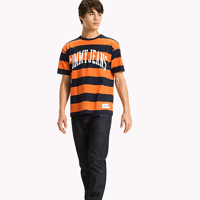 TOMMY JEANS Jersey Logo T-shirt - EDEN / BOLD STRIPE - TOMMY JEANS Clothing - main image