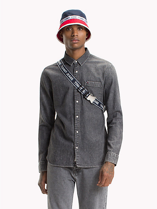 TOMMY JEANS Classic Denim Shirt - SAUNBY GREY RIGID - TOMMY JEANS Shirts - main image