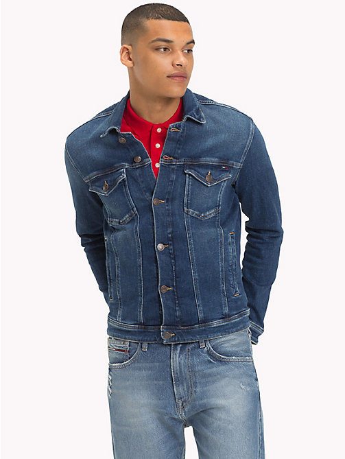 TOMMY JEANS Tommy Classics Denim Trucker Jacket - PASEO MID BLUE COM - TOMMY JEANS Clothing - main image