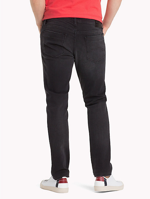 TOMMY JEANS Stretch Denim Slim Fit Jeans - KELVIN BLACK STRETCH - TOMMY JEANS Tapered Jeans - detail image 1