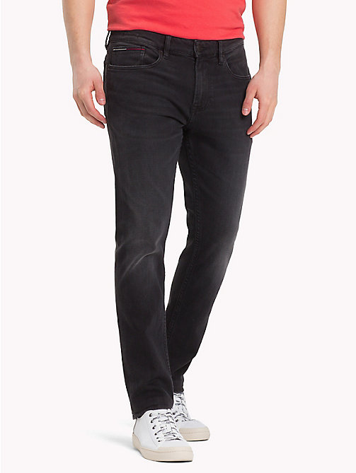 TOMMY JEANS Stretch Denim Slim Fit Jeans - KELVIN BLACK STRETCH - TOMMY JEANS Tapered Jeans - main image