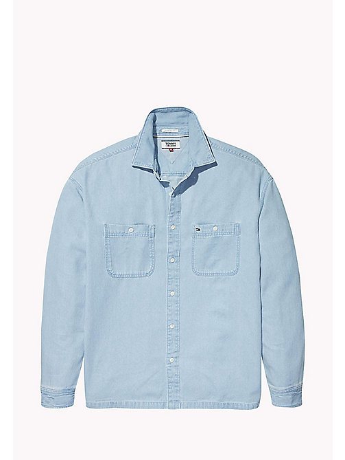 TOMMY JEANS Oversized Fit Denim Shirt - LIGHT INDIGO - TOMMY JEANS Shirts - detail image 1