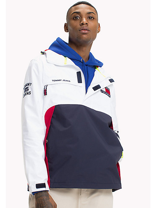 TOMMY JEANS 90s Sailing Jacket - BRIGHT WHITE - TOMMY JEANS Capsule - detail image 1