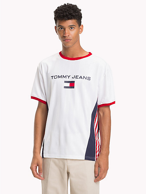 TOMMY JEANS 90s Signature Football T-Shirt - BRIGHT WHITE - TOMMY JEANS TOMMY JEANS Capsule - main image
