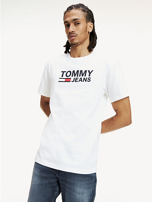 TOMMY JEANS Tommy Classics Regular Fit T-Shirt - CLASSIC WHITE - TOMMY JEANS Tommy Classics - main image