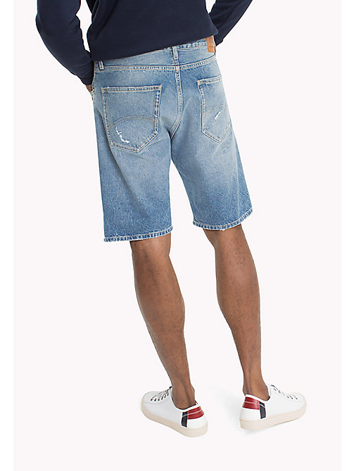 TOMMY JEANS Baggy Denim Shorts - VIDI MID BLUE RIGID DESTR. - TOMMY JEANS Shorts - detail image 1