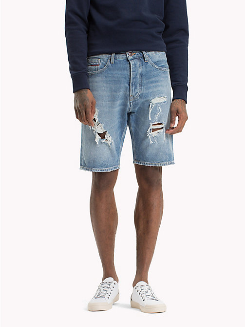 TOMMY JEANS Baggy Denim Shorts - VIDI MID BLUE RIGID DESTR. - TOMMY JEANS Clothing - main image
