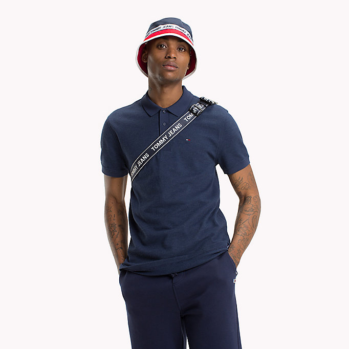 TOMMY JEANS Oxford Polo Shirt - AIR BLUE - TOMMY JEANS Men - main image
