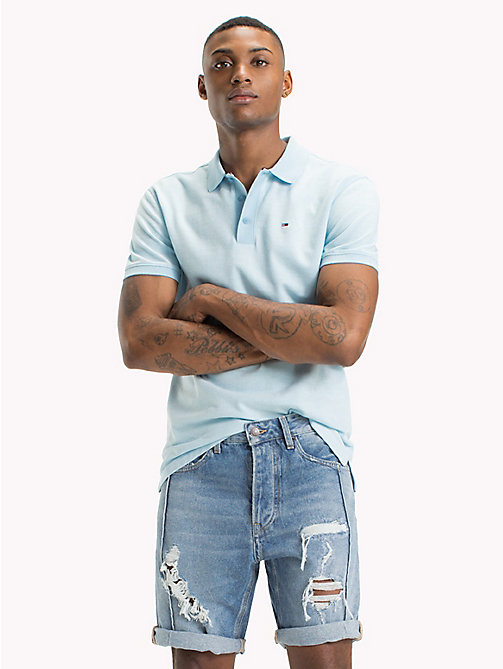 TOMMY JEANS Oxford Polo Shirt - AIR BLUE - TOMMY JEANS T-Shirts & Polos - main image