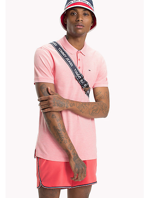 TOMMY JEANS Oxford Polo Shirt - ROSE OF SHARON - TOMMY JEANS T-Shirts & Polos - main image
