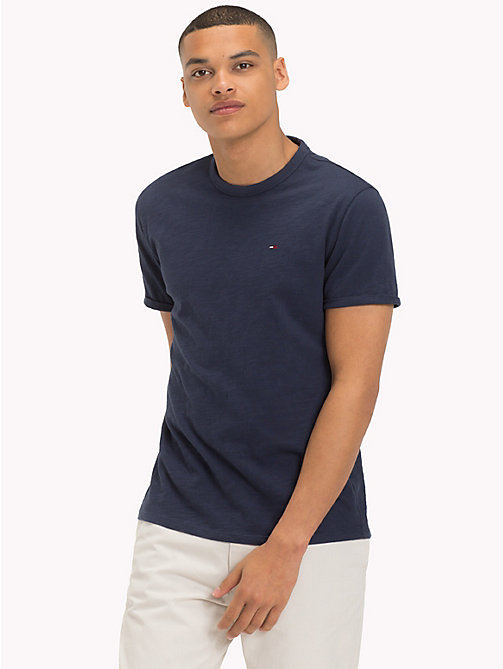 TOMMY JEANS Regular Fit Slub T-Shirt - BLACK IRIS - TOMMY JEANS T-Shirts & Polos - main image