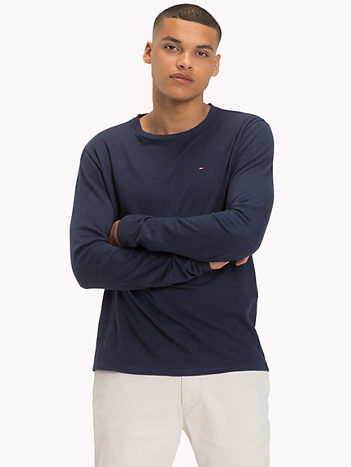 TOMMY JEANS Regular Fit Long Sleeve T-Shirt - BLACK IRIS - TOMMY JEANS T-Shirts & Polos - main image