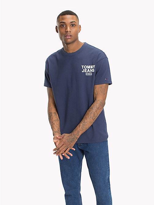 TOMMY JEANS Relaxed Fit T-Shirt - BLACK IRIS - TOMMY JEANS T-Shirts & Polos - main image