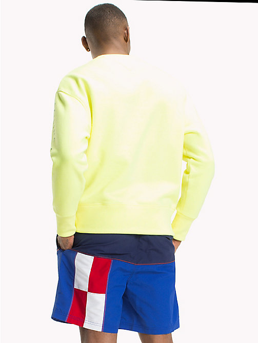 TOMMY JEANS Pull Sailing 90s coloré - SAFETY YELLOW - TOMMY JEANS Capsule - image détaillée 1