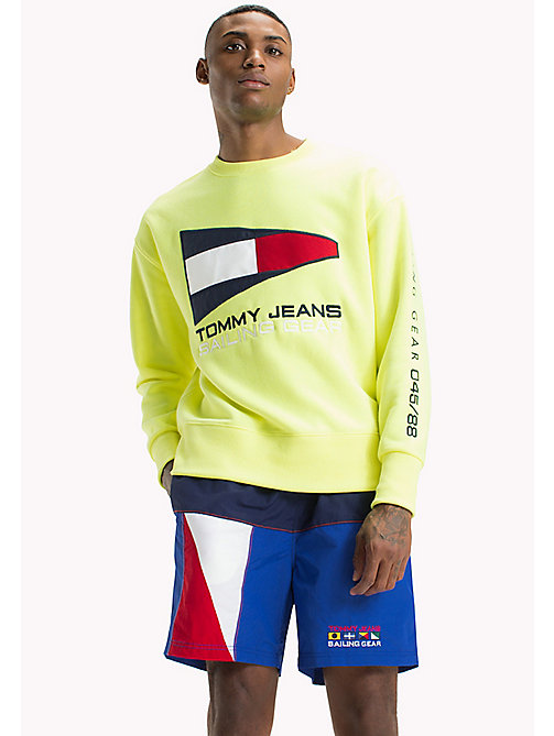 TOMMY JEANS Pull Sailing 90s coloré - SAFETY YELLOW - TOMMY JEANS Capsule - image principale