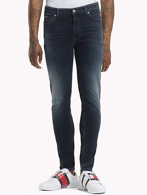 TOMMY JEANS Skinny Stretch Faded Jeans - CHALK DARK BLUE STRETCH - TOMMY JEANS Jeans - main image