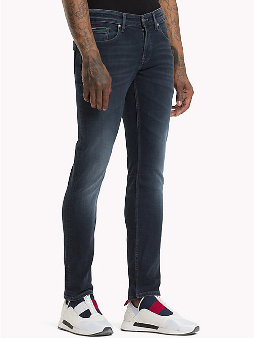 TOMMY JEANS Scanton Slim Fit Jeans - CHALK DARK BLUE STRETCH - TOMMY JEANS Jeans - main image