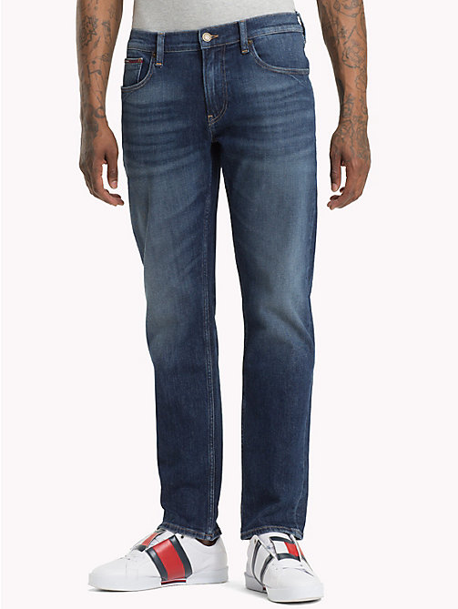 TOMMY JEANS Ryan Straight Fit Jeans - WOODEN MID BLUE COMF - TOMMY JEANS Straight Fit Jeans - main image