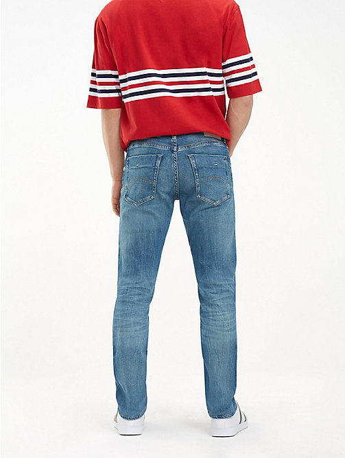 TOMMY JEANS Jeans slim fit con scoloriture - MEADOW MID BLUE STRETCH - TOMMY JEANS Slim Jeans - dettaglio immagine 1