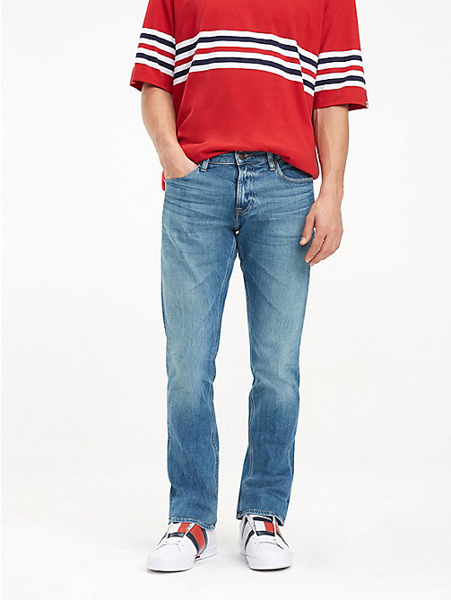 TOMMY JEANS Faded Slim Fit Jeans - MEADOW MID BLUE STRETCH - TOMMY JEANS Clothing - main image